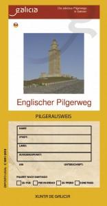 Englischer Pilgerweg. Pilgerausweis